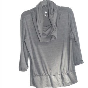 Adidas Climalite cowl neck hoodie long sleeve